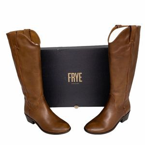 Frye Brown Carson Pull On Low Heel Riding Boot 7.5
